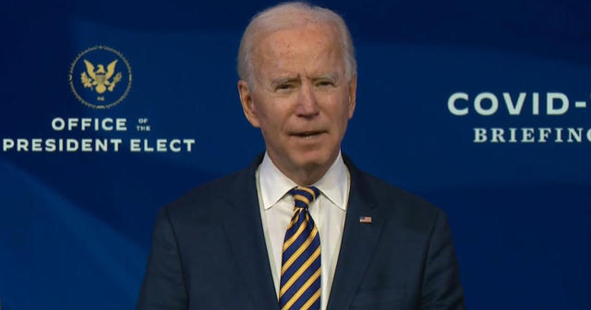Biden slams Trump team vaccine rollout as projected numbers of administered shots fall short
