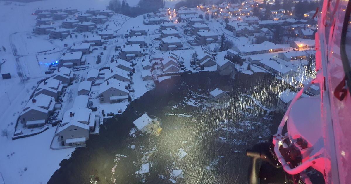 Norway landslide buries homes in mud; 10 people still missing – CBS News