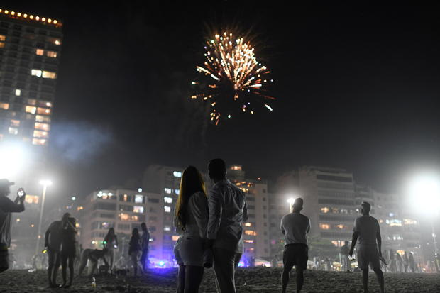 New Year's Eve, amid the coronavirus disease (COVID-19) outbreak, in Copacabana beach in Rio de Janeiro