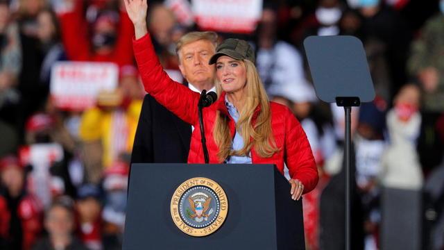 U.S. President Trump campaigns with Republican Senator Loeffler ahead of Georgia U.S. Senate runoffs in Dalton