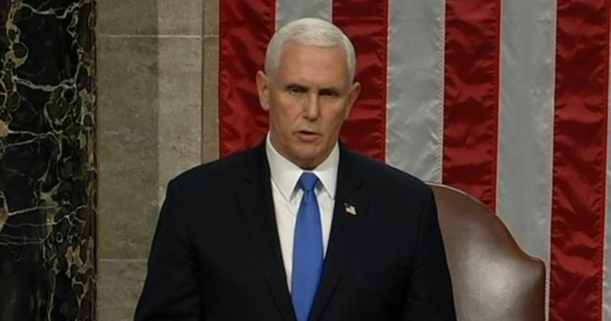 Pence Announces Bidens Victory After Congress Completes