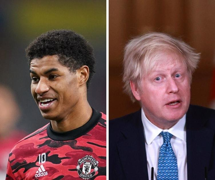 "Soccer star Marcus Rashford shared photos of ""unacceptable"" free school meal parcels prompting U.K.'s Boris Johnson to take action – CBS News"