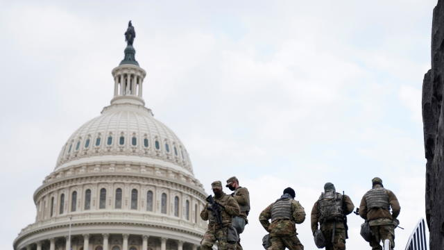 National Guard members are pictured near the U.S. Capitol Hill, ahead of U.S. President-elect Joe Biden's inauguration, in Washington