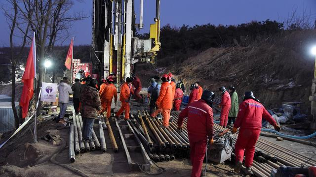 CHINA-SHANDONG-QIXIA-GOLD MINE-RESCUE (CN)