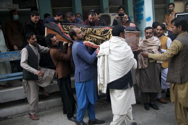 Funeral ceremony of Afghan journalist Malalai Maiwand