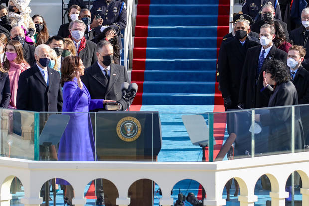 Kamala Harris is sworn is as U.S. Vice President