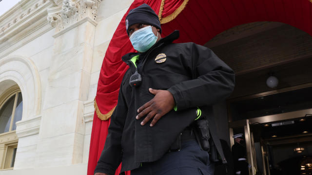 Presidential Inauguration Rehearsal Held At US Capitol Building