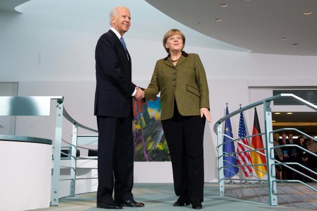 Biden meets Merkel