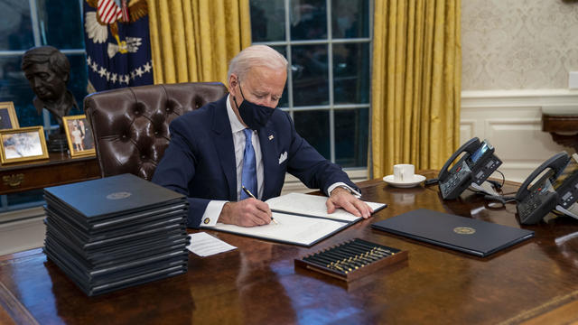 Joe Biden Takes Oath Of Office In Capital Under Lockdown