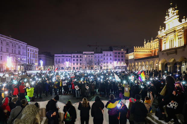 Women Strike Against Banning Legal Abortions In Poland