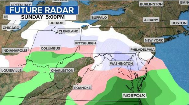 Snow storm Future-radar