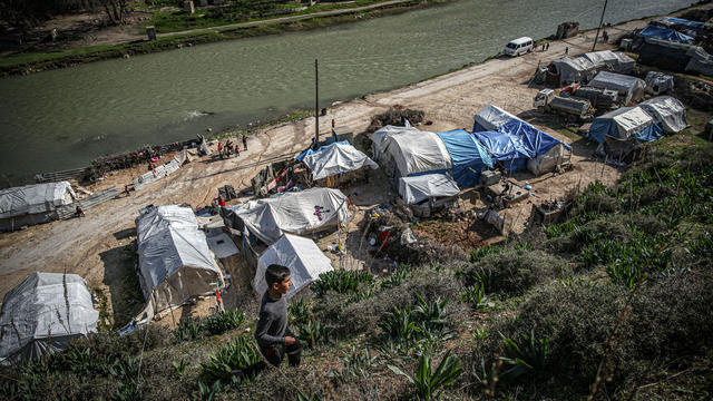 Rising water level of the Asi River worries those living on the banks of the river in Idlib