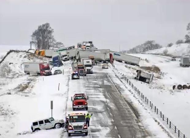 Interstate Pileup Iowa