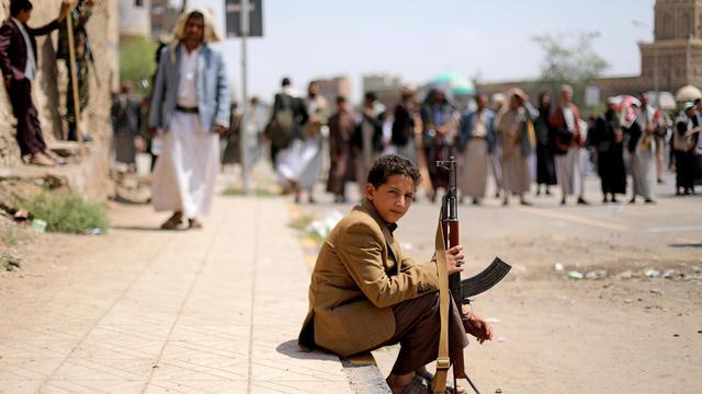 FILE PHOTO: Houthi followers gather to mark Ashura