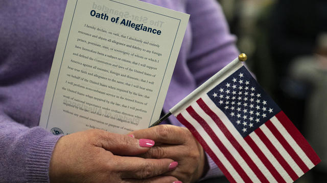 Immigrants Sworn In As U.S. Citizens In New York City