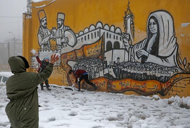 PALESTINIAN-WEATHER-SNOW