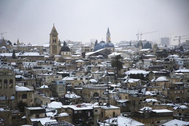 Snow in in Jerusalem