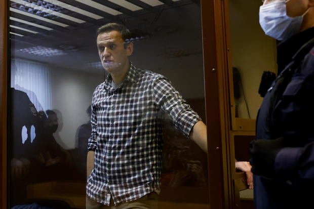Russian opposition Alexei Navalny appears in court in Moscow