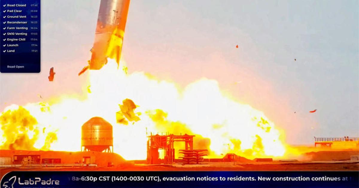 SpaceX Starship prototype sticks landing, then explodes - CBS News