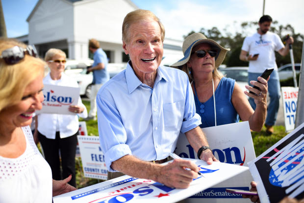 Bill Nelson campaigning in Florida in 2018