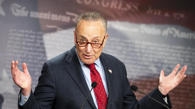 Senate Majority Leader Schumer Holds News Conference