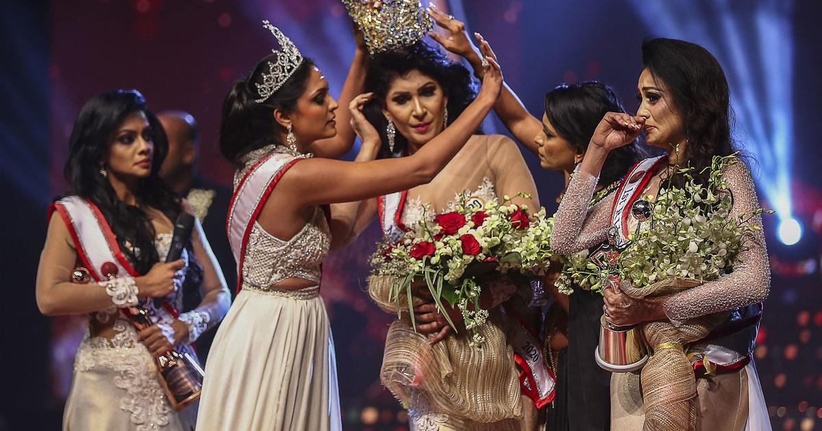 Mrs. World arrested for allegedly injuring Mrs. Sri Lanka after ripping crown from her head on stage – CBS News