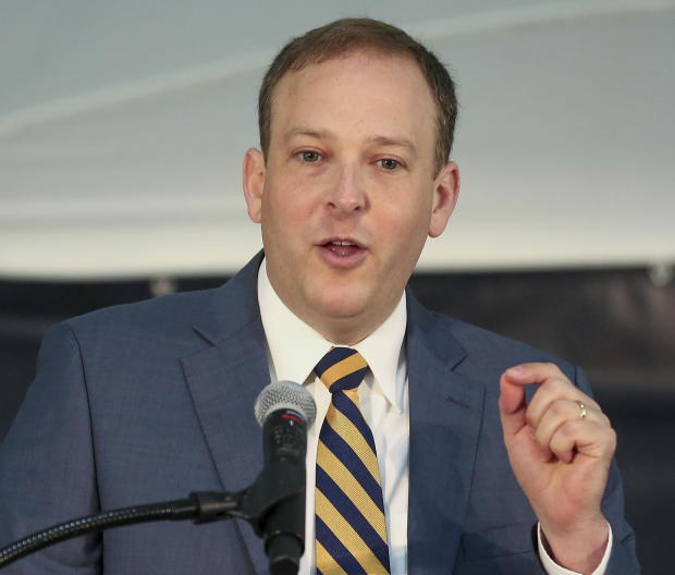 Rep. Lee Zeldin speaks at a ceremony to launch a project