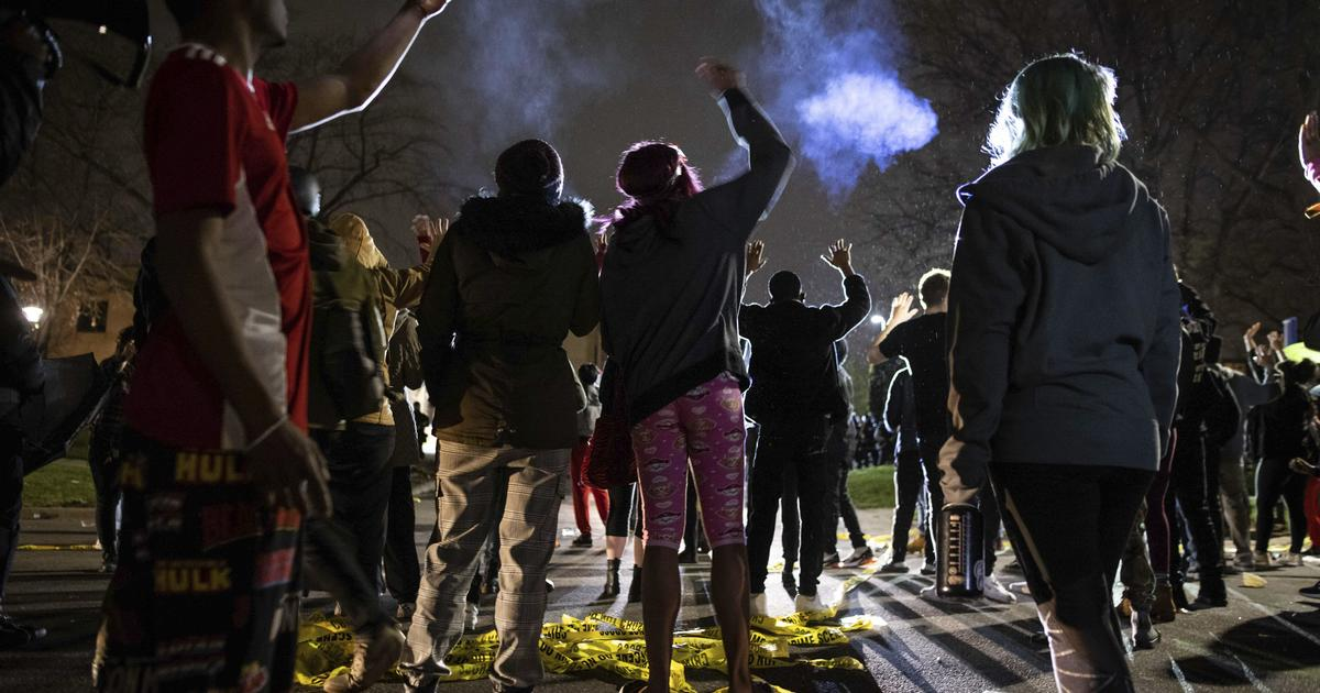 Protests erupt in Minneapolis suburb after deadly officer-involved shooting