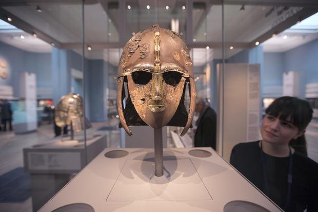 Sutton Hoo Treasure Displayed At The British Museum