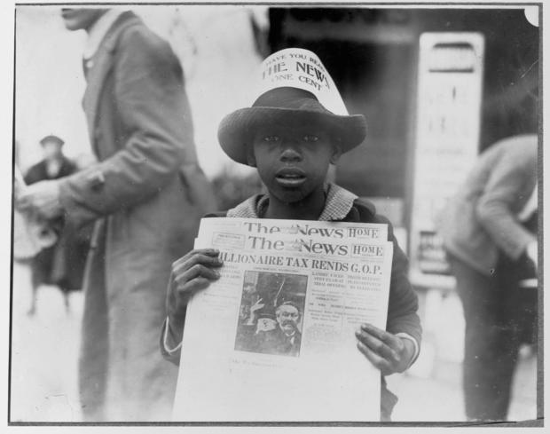 Young Newspaper Seller
