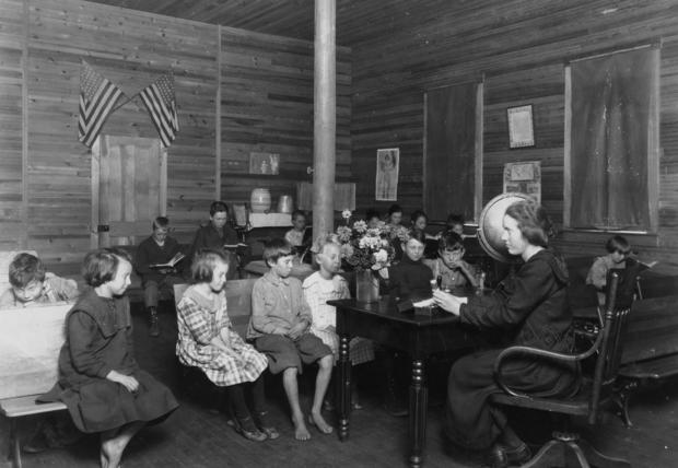 School in Session - (Sunset school).