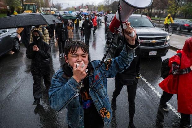 Protesters Celebrate Derek Chauvin Conviction