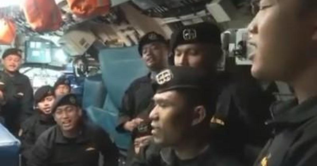 Poignant video shows crew of sunken submarine singing on their ship