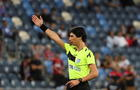 Sapir Berman referees an Israeli Premier League soccer match in Haifa