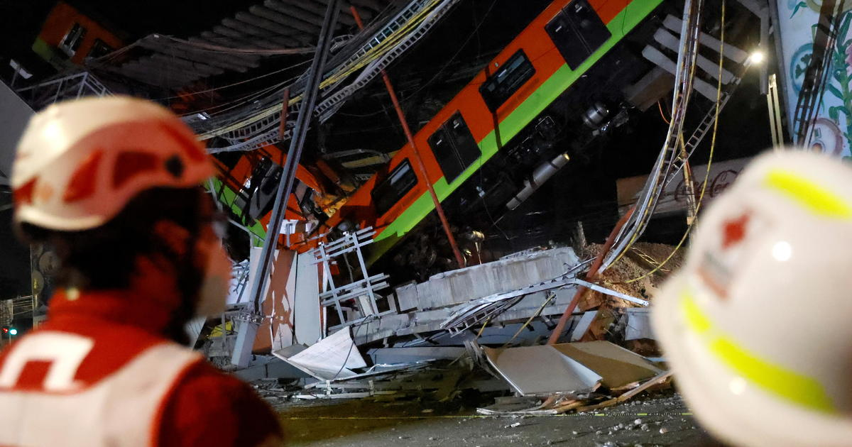 Mexico City metro overpass collapses, killing more than 20 and injuring dozens