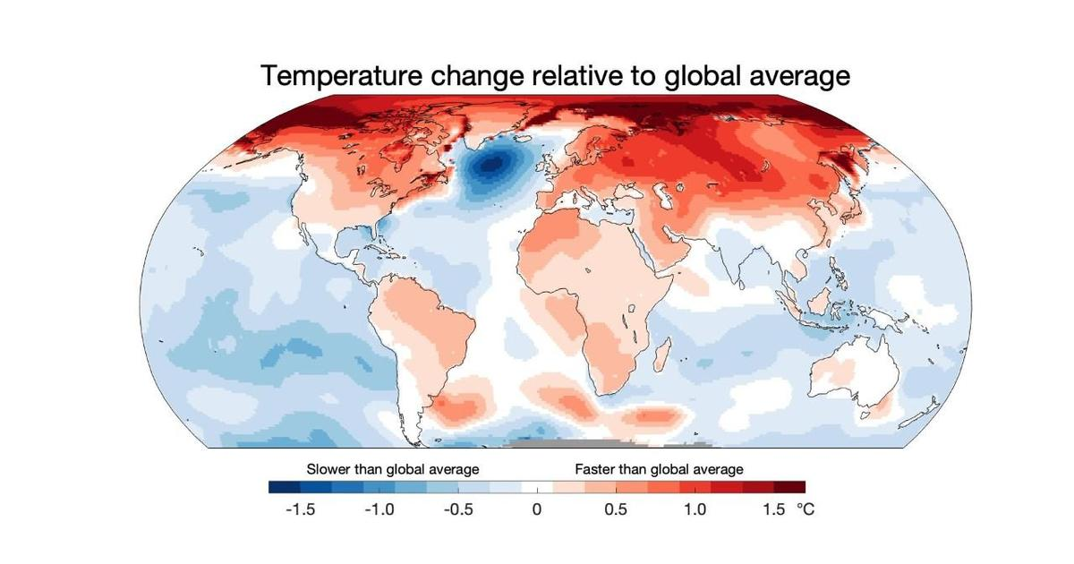 """When temperatures do odd things..."": How this map reveals a warning for the climate"