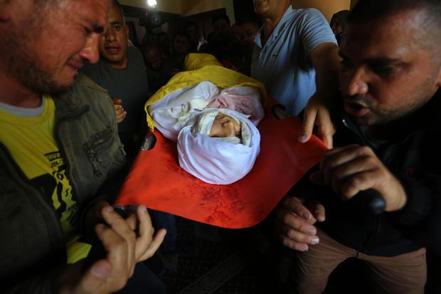 Funeral of Palestinian child killed in Israeli airstrike hit Gaza Strip