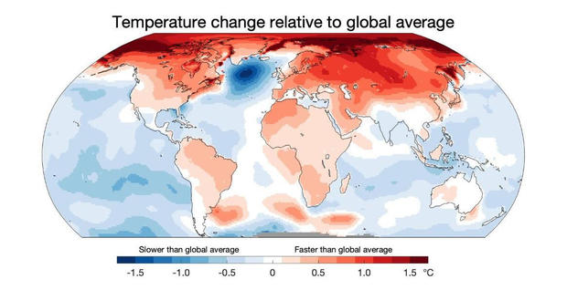 Relative warming map by Professor Ed Hawkins