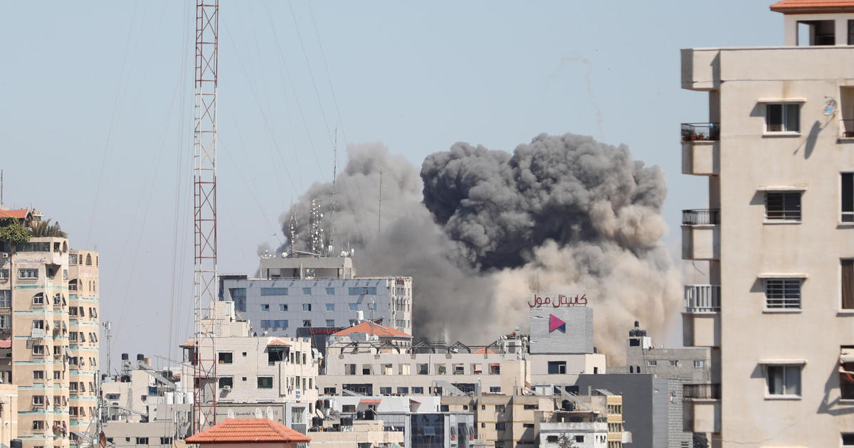 Israeli airstrike in Gaza destroys building with AP bureau
