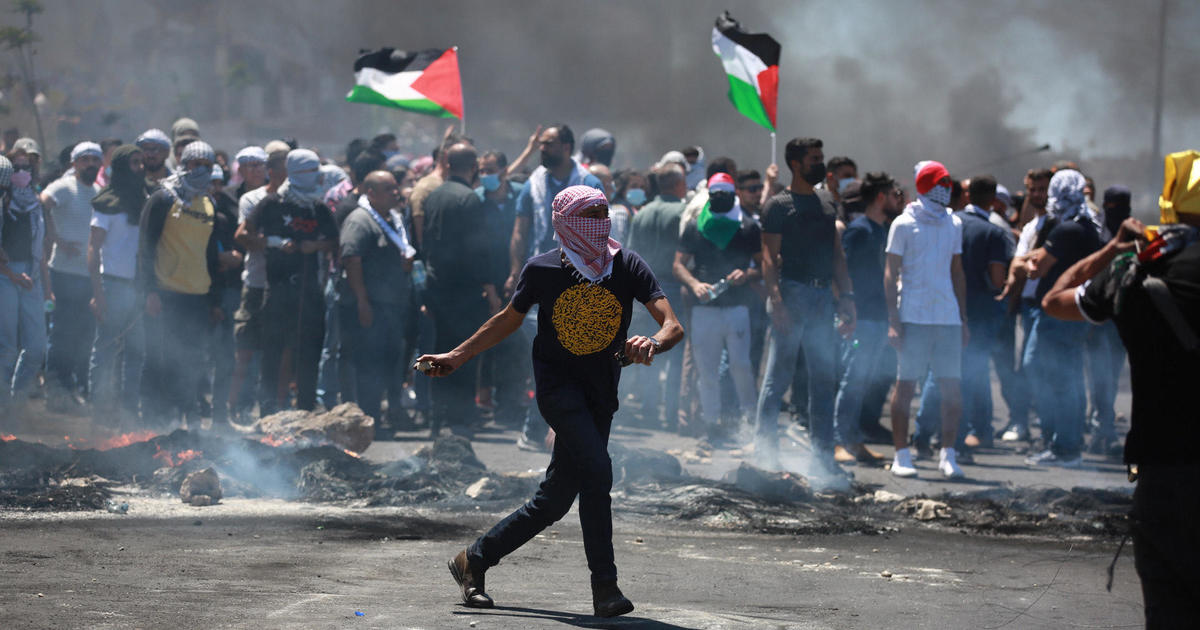 """Palestinians protest in """"day of rage"""" in the West Bank and Jerusalem"""