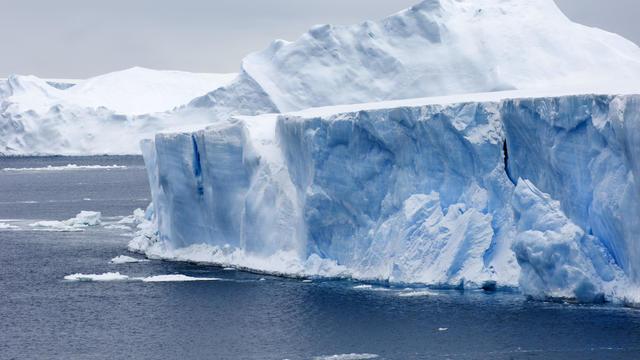 Icebergs Weddell Sea near Snow Hill Island, Antarctica