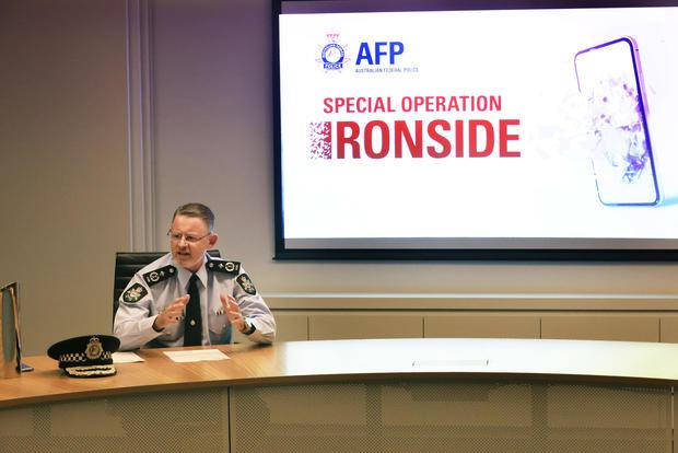 Prime Minister Scott Morrison Addresses Media Following Mass Raids Against Organised Crime Across Australia