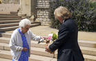 The Queen Receives A Rose Named In Memory Of The Duke Of Edinburgh