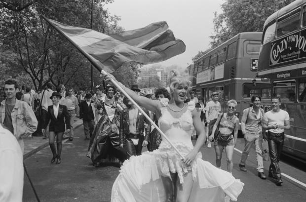 Marilyn Imitator At Gay Pride