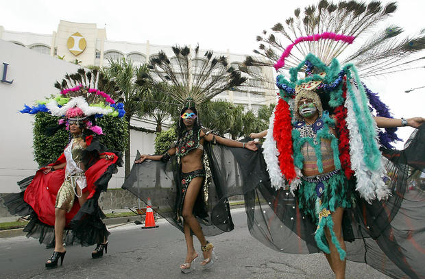 Members of the salvadorean gay community