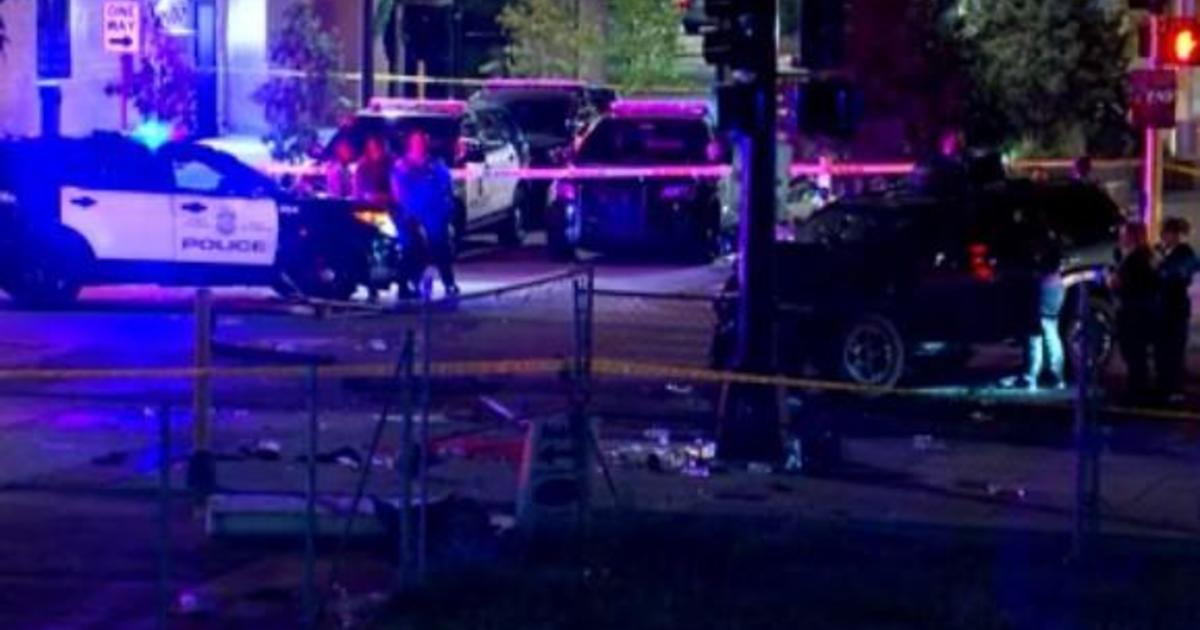 An SUV rammed into protesters in Minneapolis, killing one and injuring another. Then protesters yanked the driver out.