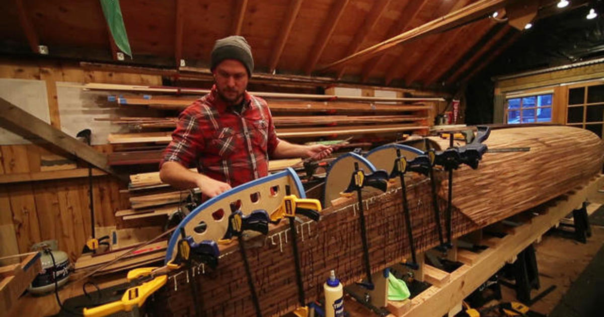 Building a canoe, and ties to his late father