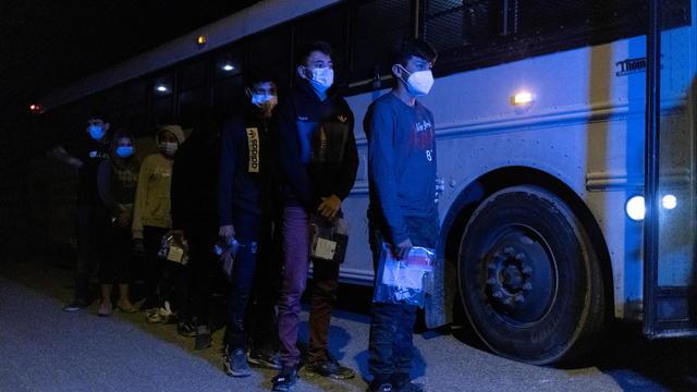 Asylum seeking migrants in Roma, Texas