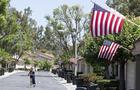 Neighborhood decorates for Flag Day
