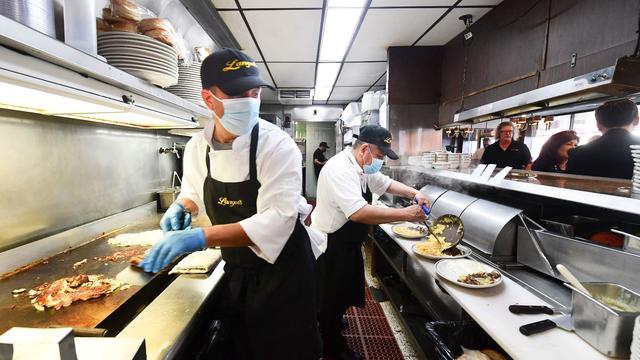New York City indoor mask restaurant kitchen